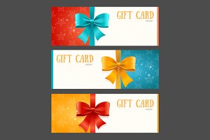 Gift Card Template. Vector