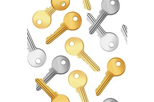 Key Falling Background Pattern