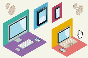 Technological Devices in Isometric