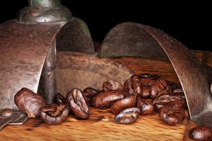Old coffee grinder (impressionist)