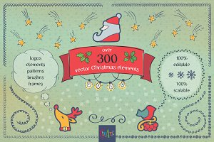 I love Christmas! Vector bundle.