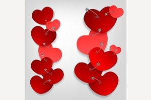 Pinned Hearts Illustration