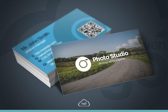 Photo studio business card business card templates creative market reheart Choice Image