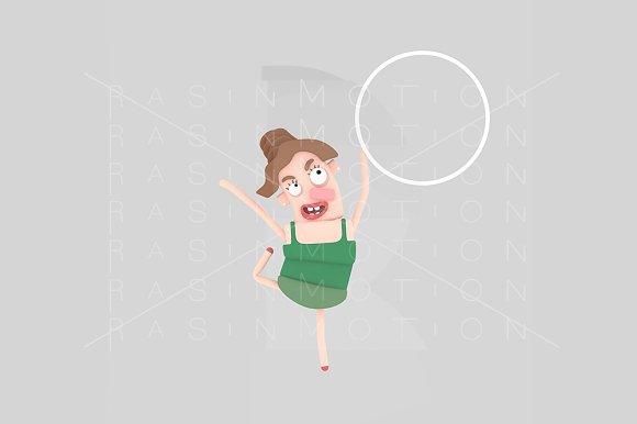 3d illustration. Young Gymnast Girl. - Illustrations