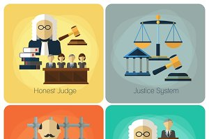 Legal services and justice concept