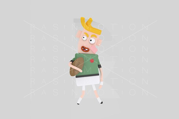 3d illustration. Rugby player. - Illustrations
