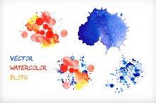 Vector watercolor blots.