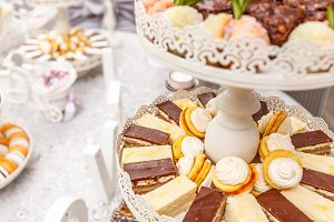 Different delicious desserts