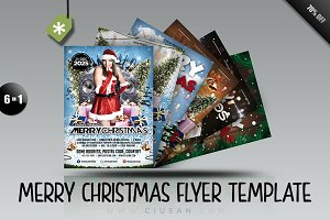 MerryChristmas Flyer Template Bundle