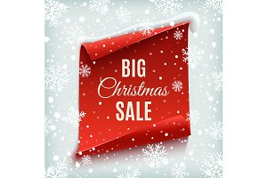 Big Christmas sale poster.