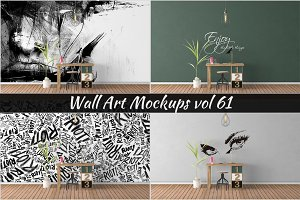 Wall Mockup - Sticker Mockup Vol 61