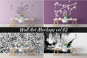 Wall Mockup - Sticker Mockup Vol 62