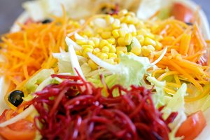 Close up of fresh vegetable salad
