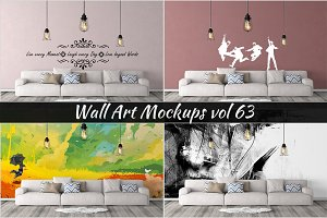 Wall Mockup - Sticker Mockup Vol 63