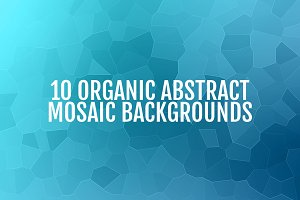 Organic Abstract Mosaic Backgrounds