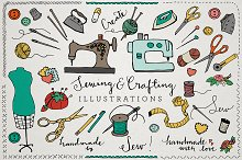 Sewing & Crafting Ilustrations Pack