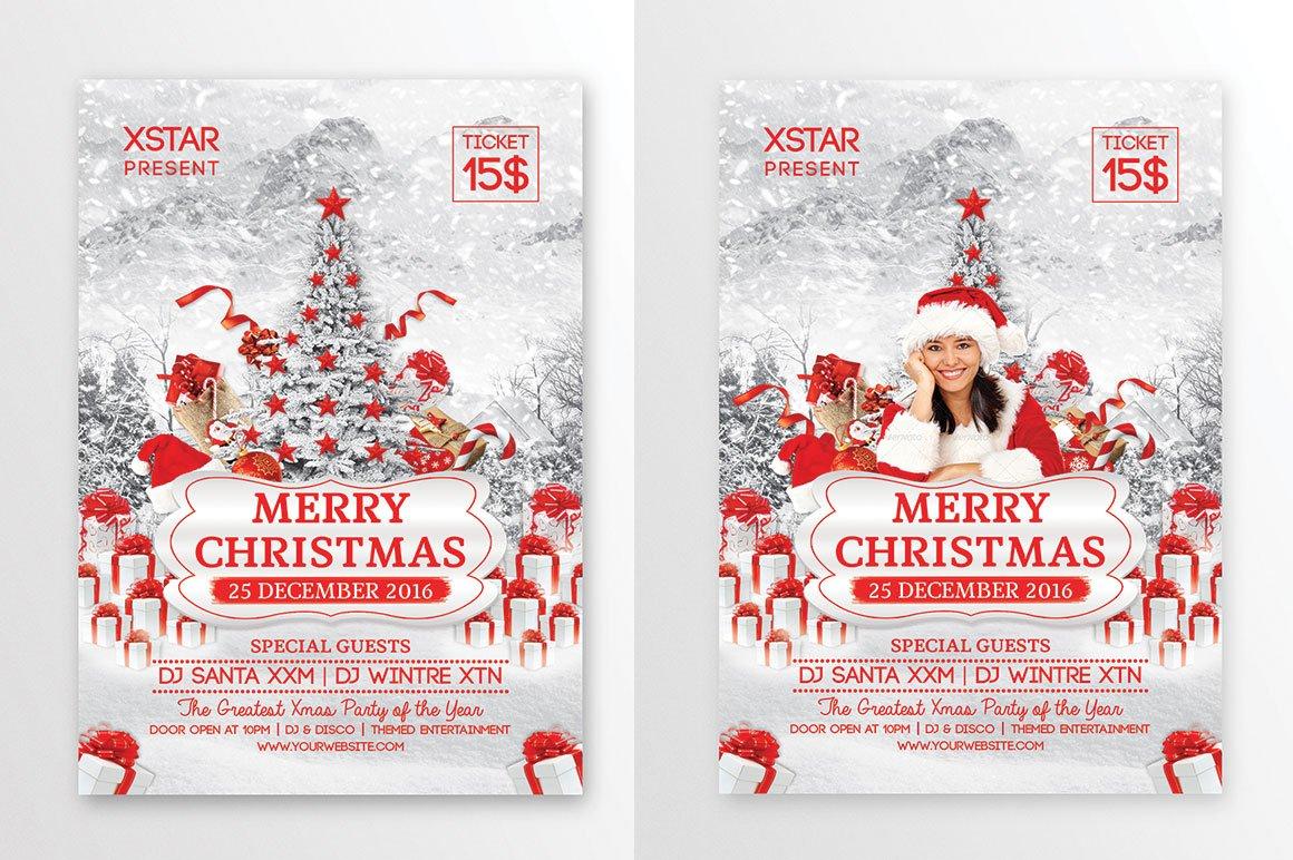 Merry christmas flyer flyer templates creative market for Merry christmas flyer