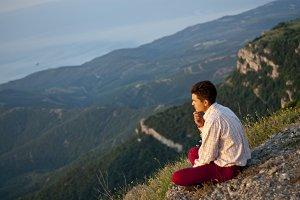 meditation at sunrise