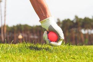 Hand hold golf ball #3