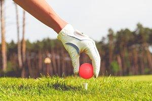 Hand hold golf ball #4