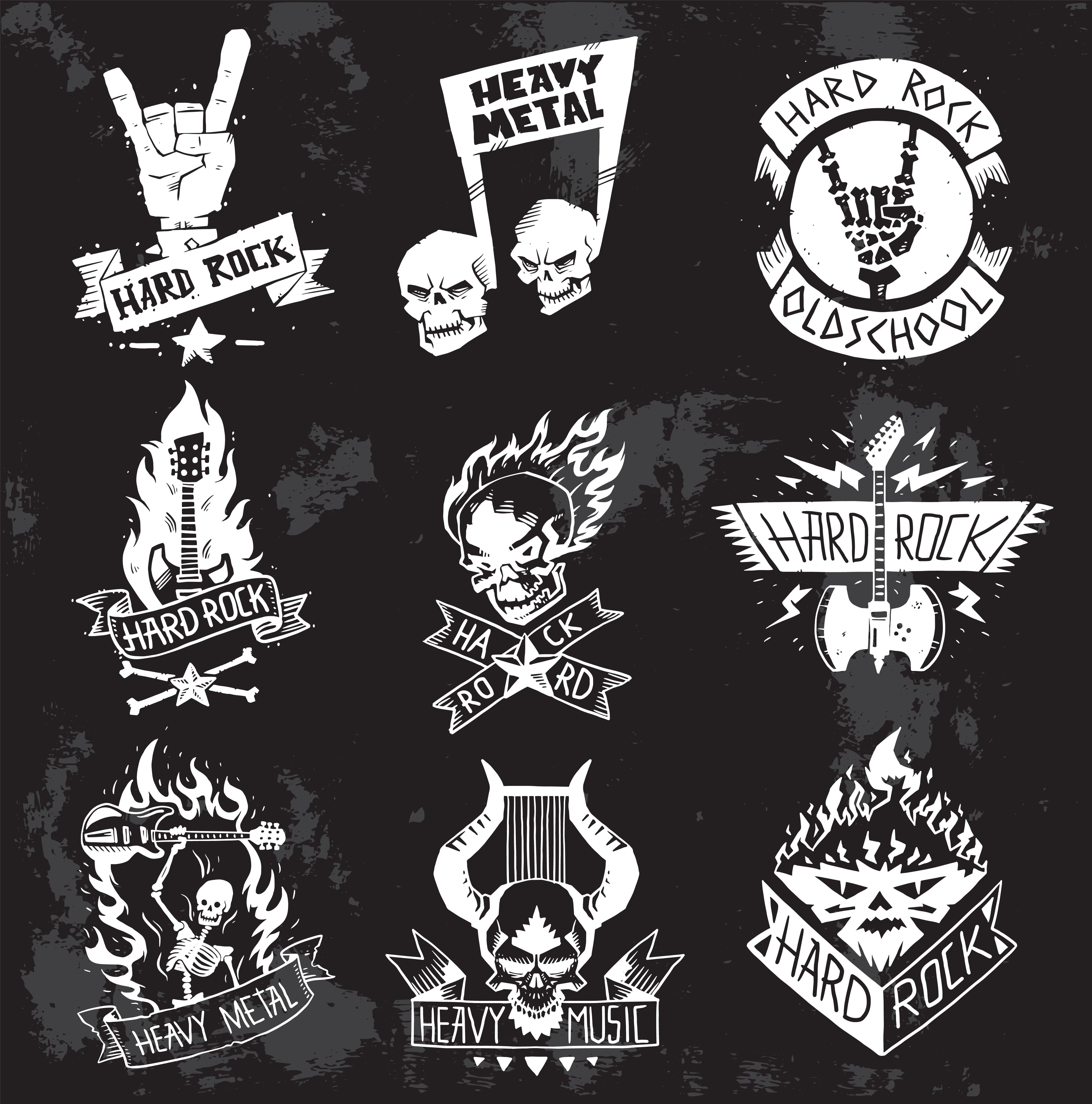 Vector Band Typography Hardcore Logo Illustrations Creative Market