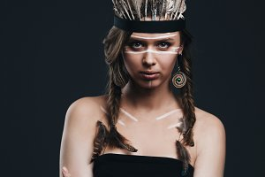 beautiful native american girl