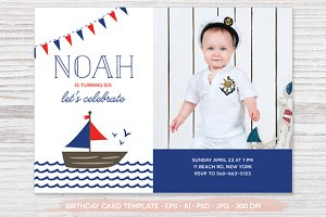 Birthday Photo Card Template