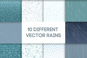 Seamless colorful rain drops pattern