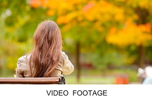 Beautiful woman enjoy autumn day