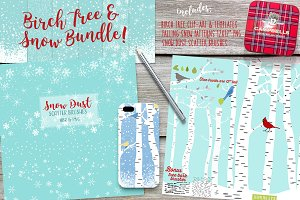 Birch Tree & Snow Bundle w/BONUS!
