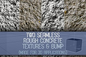 Two Seamless Rough Concrete Textures