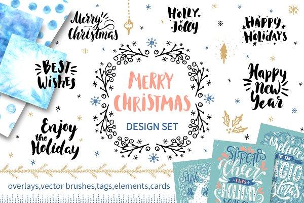Merry Christmas design set