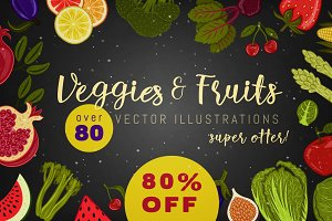 80% OFF Veggies And Fruits