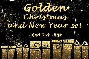 Golden Christmas & New Year set
