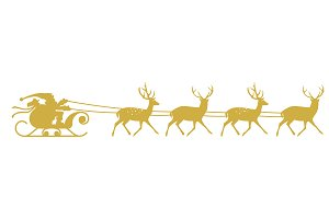 Santa Sleigh and Reindeer.
