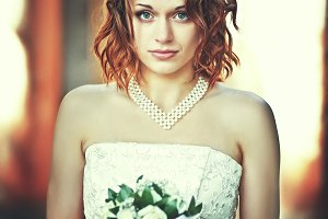 Lady with curly red hair