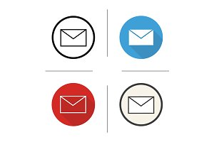 Email. 4 icons. Vector