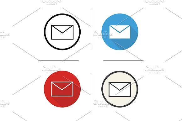 Email. 4 icons. Vector - Icons
