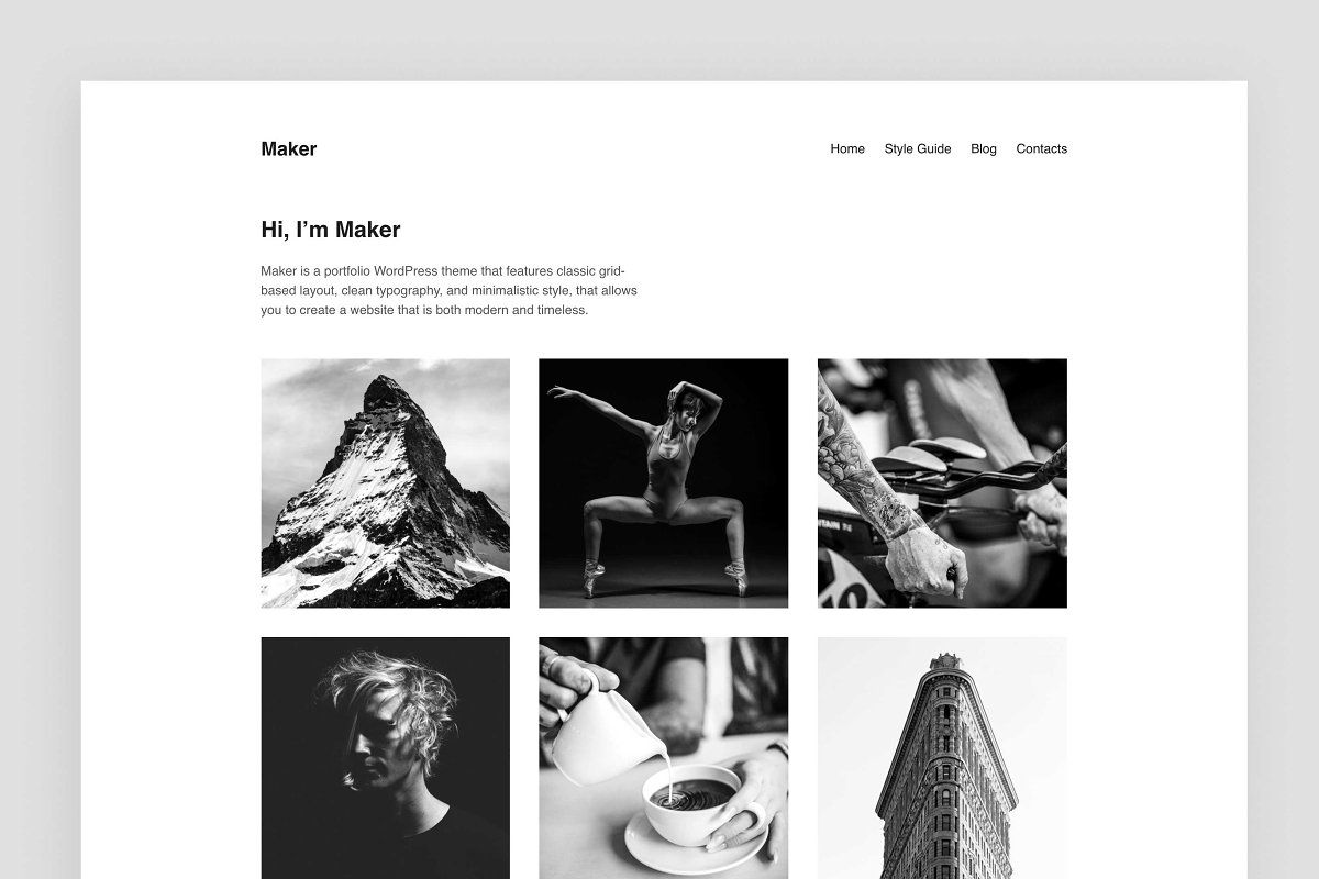 Maker – Portfolio WordPress Theme ~ WordPress Portfolio