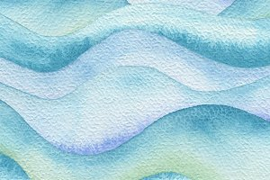 Abstract wave watercolor paint