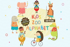 Kids Zoo Alphabet with cute animals!