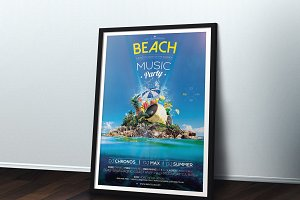 Beach Music Party A4
