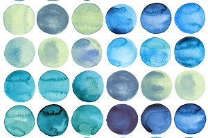 Circles Watercolor Collection