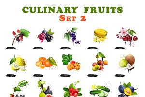 Set culinary fruits part 2