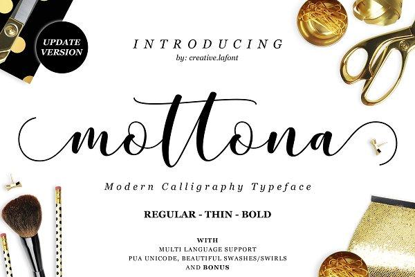 Mottona Script (Regular-Thin-Bold)