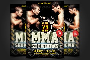 MMA Showdown Flyer Template
