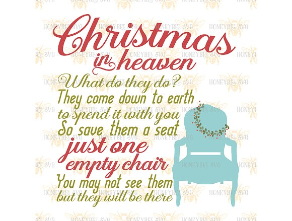 christmas in heaven chair illustrations creative market