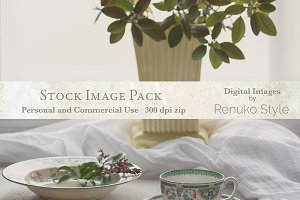 Soft Light and Tea Stock Image Pack