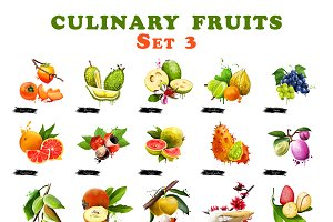 Culinary fruits set  part 3