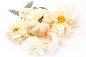 White pumpkin mockup